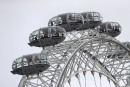 La grande roue du London Eye a été immobilisée avec... | 22 mars 2017