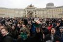 Des centaines de Russes interpelés lors de manifestations