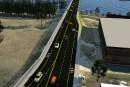 Les cyclistes de retour sur le pont Jacques-Cartier