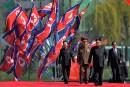 Kim Jong-Un parade devant les médias étrangers