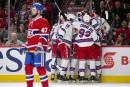 Alexander Radulov ne peut que constater les dégâts. Les Rangers... | 14 avril 2017