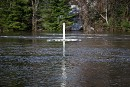 La rivière Ouareau est sortie de son lit à Rawdon....   17 avril 2017