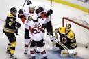 Les Sénateurs évitent le pire contre les Bruins