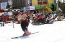Skieurs et planchistes ont pu profiter de la chaleur et... | 18 avril 2017