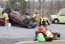 Une spectaculaire collision fait cinq blessés
