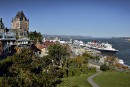 Plus de croisiéristesau Québec, mais pas à Québec