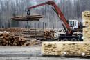 Marche pour contester la taxe américaine du bois d'oeuvre