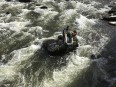 Opération de sauvetage dans la rivière Magog