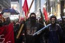 Vandalisme au centre-ville à l'occasion de la Fête des travailleurs