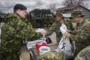 Inondations: le brigadier général a parcouru les zones sinistrées de la région