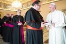 Mgr Cyr rencontre le Pape à Rome
