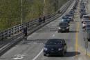Ouverture de la voie cyclable: une congestion «normale» sur le pont Jacques-Cartier