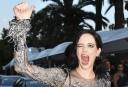 L'actrice Eva Green fait une drôle de grimace alors qu'elle... | 27 mai 2017