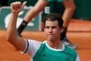 Roland-Garros: Dominic Thiem accède au deuxième tour