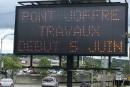 Les travaux au pont Joffre s'amorceront le 5 juin