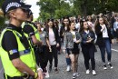 Un impressionnant dispositif de sécurité, avec des policiers lourdement armés,... | 4 juin 2017