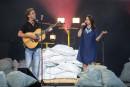 Fred Pellerin a débuté le spectacle. «Quand le fleuve sort...   11 juin 2017