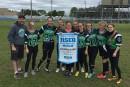 Flag-football: École La Découverte. Benjamin féminin division 1. Championnes de... | 20 juin 2017