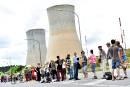 Chaîne humaine pour réclamer la fermeture de centrales nucléaires belges
