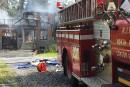 La maison criblée de balles a été incendiée