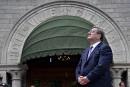 Le maire de Québec, Régis Labeaume, devant l'hôtel de ville.... | 3 juillet 2017