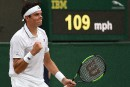 Milos Raonic poursuit sa route à Wimbledon
