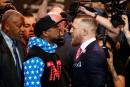 Un premier face-à-face coloré entre Mayweather et McGregor