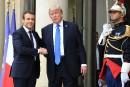 Tapis rouge pour Trump en visite à Paris