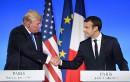 À Paris, Trump prend la défense de son «merveilleux» fils