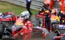 Le pilote Sebastian Vettel, de Ferrari, était déçu en sortant... | 17 juillet 2017