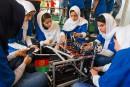 Visa américain en poche, des Afghanes entrent dans le concours robotique