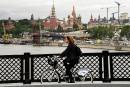 Circulation difficile pour les cyclistes à Moscou