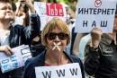 Manifestation contre les restrictions sur l'internet à Moscou