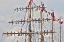 Patrice Laroche a capté ce cliché de marins grimpés sur... | 23 juillet 2017