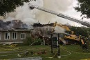 Un incendie majeur détruit un resto de Magog (vidéo)