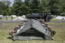 Les Forces canadiennes aménagent un camp de demandeurs d'asile