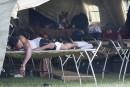 La Croix-Rouge prend en charge le camp à Saint-Bernard-de-Lacolle<strong></strong>