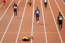 Usain Bolt se blesse lors de la dernière course de sa carrière