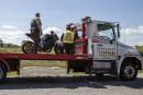 Possibles constats d'infraction pour un motocycliste après une sortie de route