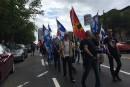 Manif contre le gouvernement Couillard à Québec