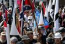 Manifestation contre le racisme devant l'ambassade américaine