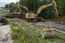L'eau endommage un chemin de fer à Charette