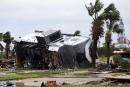 Un parc de maisons-mobiles a été détruit, à Port Aransas.... | 26 août 2017