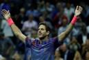 US Open: Del Potro stoppe Federer en quarts de finale