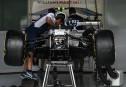 La voiture de Lance Stroll, en train d'être assemblée ce... | 28 septembre 2017