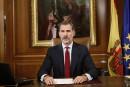 Le roi d'Espagne met son autorité en jeu en Catalogne