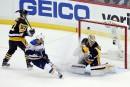 Les Blues battent les Penguins en prolongation