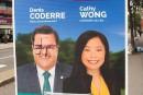 Coderre condamne un «incident haineux» sur l'une de ses pancartes électorales