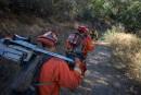 Feux en Californie: des détenus heureux de lutter contre les flammes
