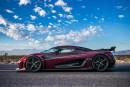 La Koenigsegg Agera RS est la voiture de production la plus rapide